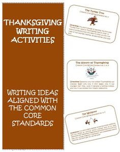 Thanksgiving Common Core Writing Ideas! Great for grades 3-5! $