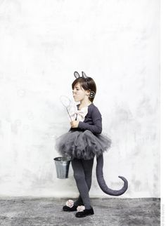 Change the tutu to blue tulle with overall style top for if you give a mouse a cookie costume