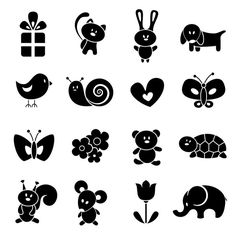 Free vector about vector cartoon silhouettes
