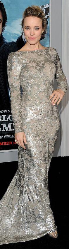 Red Carpet fashion dress #silver