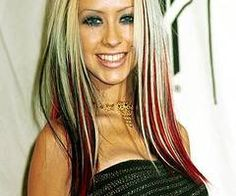 Dark Burgundy Brown With Blonde Highlights Red i could probably do