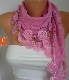 Pink  Scarf - Scarves