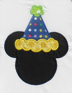 Birthday Hat Mouse Embroidery Design Machine by theappliquediva, $2.99