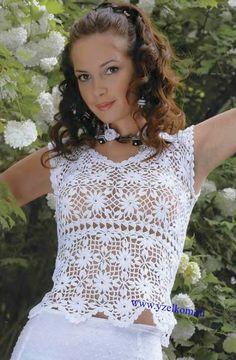 Crochet golden top