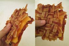 The Bacon Weave Grilled Cheese (15 Ridiculous Ways to Serve Grilled Cheese)