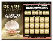 Scratch Off Game $2,500.00 Pearl Payout