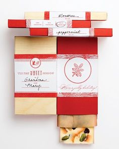 Free printable template to make box- Great for holiday candy gifts-