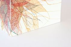 Linear Pattern A5 Size Notebook with Ribbon by LiucijaTextiles