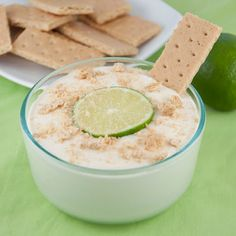 Key Lime Pie Dip...this would be great with apple wedges...yummo I can sweetened condensed, 1/4 cup & 2 tsps lime juice, 1/2 cup marshmallow fluff