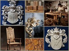 Woodcarving made by Patrick Damiaens, A collage made by Brigitte Külpmann