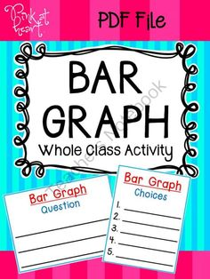 Happy September GIVEAWAY!! Enter for your chance to win 1 of 3.  Bar Graph Activity (22 pages) from Pink at Heart on TeachersNotebook.com (Ends on on 9-2-2014)  BAR GRAPHING ACTIVITY GIVEAWAY! This PDF includes many teacher and student materials for a fun, engaging student-led bar graphing activity.  Includes idea cards, voting cards, posters and more!  Enjoy!