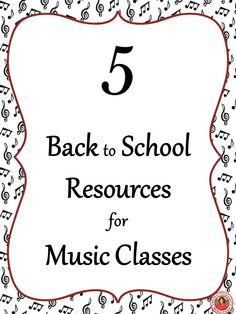 Back to school resources for your music classroom.