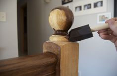 decor, stain stair railing, honey oak, gel stain, honey color, hous, diy stair railing, refinishing stair rails, staining stair railings