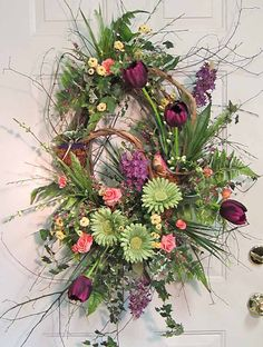 XL Wreath Front Door Wreath for Spring Such a by LadybugWreaths, $189.97