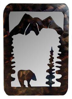 Bear Metal Art Mirror
