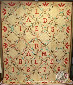Ladies Ramble quilt - 1876 for Bergen   County, NJ