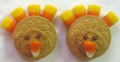 Golden Oreo Turkey Cookies