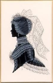 Silhouette -Victorian lady
