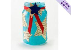 mod podg, recycled jars, candle holders, jar craft, 4th of july, mason jar candles, mason jars, craft ideas, crafts