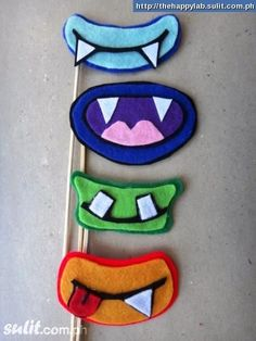 monster photo booth props for kids parties!