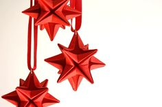 . #origami #tree #red #christmas #stars