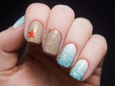 Chalkboard Nails: Beauty and the Beach nails