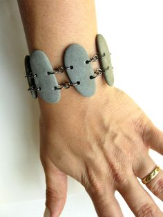 Natural jewelry - Slate Sticks Stone Bracelet by Authentic Arts