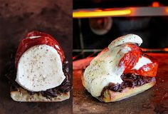 The Appetizer - Roasted tomato and caramelized onion bruschetta