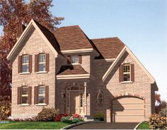 Unique roof lines add design on this 3 bedroom Colonial home.  Colonial House Plan # 571062.
