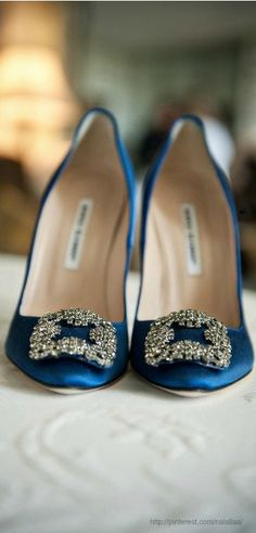Carrie Bradshaw's now famous wedding shoes by Manolo Blahnik