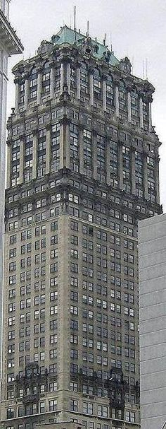 The ornate   Book Tower in Detroit, Michigan, USA.