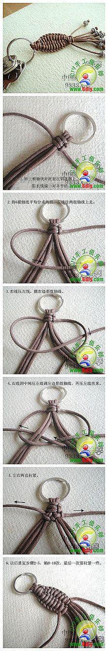 DIY Chinese Knot Key Chain Bracelet, Diy Knots Keychain, Diy Keychains, Craft, Macrame Knots Tutorial, Keys, Handmade Keychains, Knot Key, Key Rings