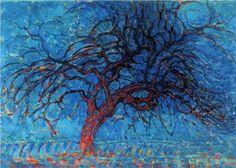 Avond (Evening): The Red Tree - Piet Mondrian .