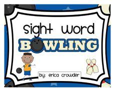 Sight word bowling free!