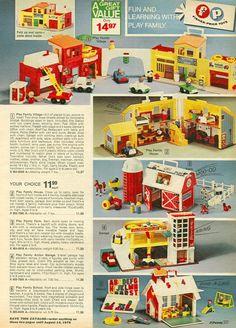 1975 JC Penny Catalog Fischer Price #toys #retro #70s