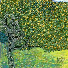 Gustav Klimt (1862-1918) - Goldener Apfelbaum (Golden Apple Tree). Circa 1903. 100cm x 100cm.