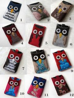 I like these owl iPod touch/iPhone cases.