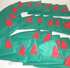 Chapéu do Peter Pan para lembrancinha de festa infantil e adulto, pode ser confeccionado em diversos tamanhos.