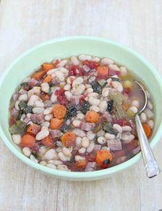 Slow Cooker Recipe for Zesty Easter Ham & Beans | 5DollarDinners.com