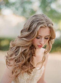 gorgeous hairstyles bridesmaid hair, long curls, hairstyle ideas, hair wedding, bridal hairstyles, natural curls, hair looks, wedding hair styles, wedding hairstyles