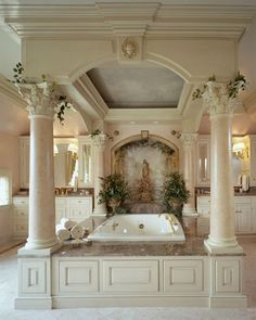 This is an elegant bathroom. I am sure many people would love to spend a few hours, or even a day in this bathroom.