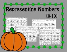 Do your students need practice representing numbers in different ways?  This is the perfect resource!  These printables ask students to find the number given (1-10) in various representations (standard form, tally marks, objects, number cubes, tens frames). They can be laminated and used in centers or copied and passed out for student work. My  students love to use dot markers to mark the correct answers!