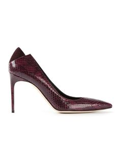 Shop BRIAN ATWOOD 'Mercury' snakeskin effect pumps from Farfetch