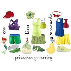 Disney Princess Running Outfits. Prep for the Disneyland half marathon!!!