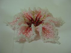 Russian flower step by step, very detailed picture tute. #Seed #Bead #Tutorials