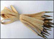 """Tudor Tailor Deerskin points: """"The deerskin used for these handmade laces has been through a tanning process very close to the oil/alum tawing process used in the 16th century. The results are soft flexible laces that can hold a tight half-bow, whilst being surprisingly strong."""" set of twelve 12-inch, 56 pounds.  Wow."""