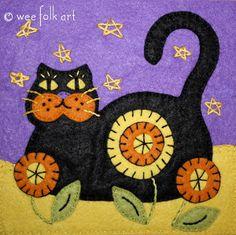 Halloween Black Cat Quilt Block | Free Quilt Tutorial | FaveQuilts.com
