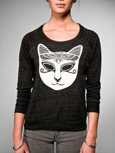 cat mask shirt