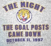 LSU 1997 Beat Florida game t-shirt from Vintage Basement - www.vintagebasement.com