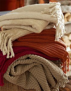 Cozy up with throws.